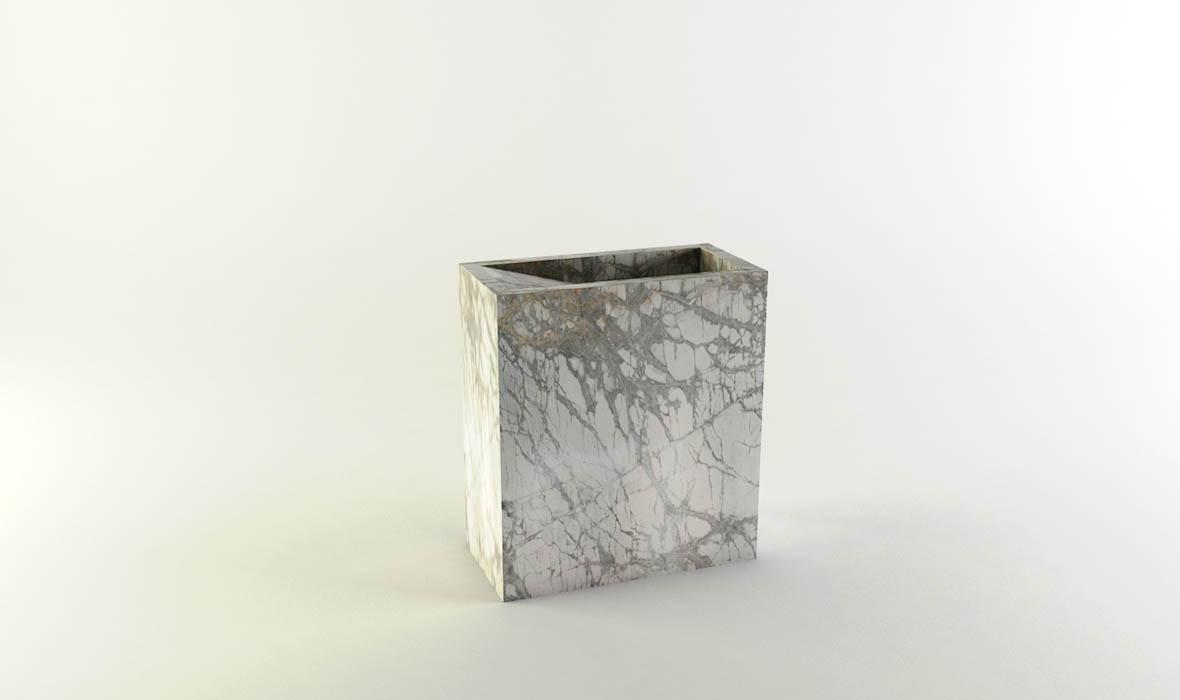 Lightweight Natural Stone Standing Washbasin Kascade