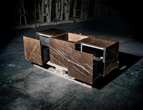 Machined marble and natural stone furniture