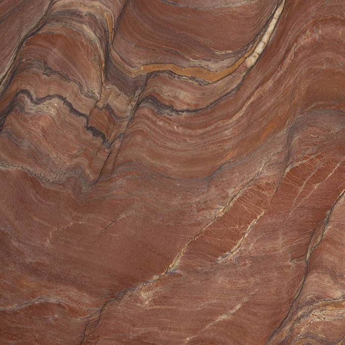 Lightweight Red Revolution quartzite for large format - Cuarcita ligera Red Revolution para gran formato