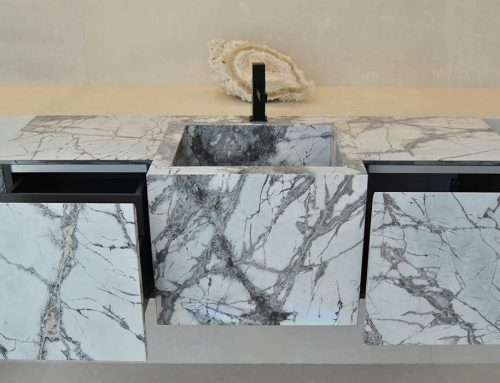 Lightweight natural stone drawers and doors