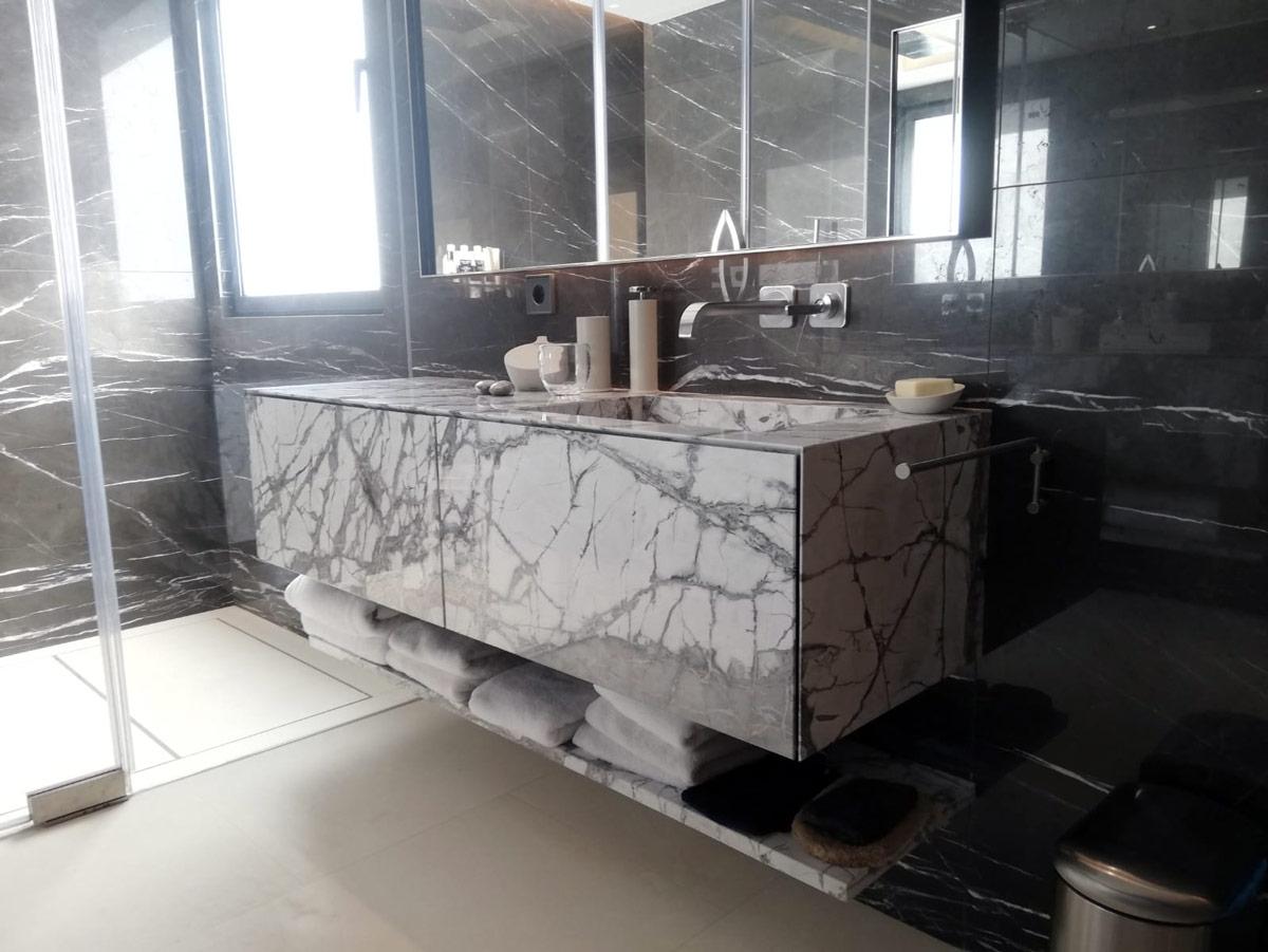 Mueble de baño de mármol ligero honeycomb - Lightweight marble vanity bathroom Honeycomb