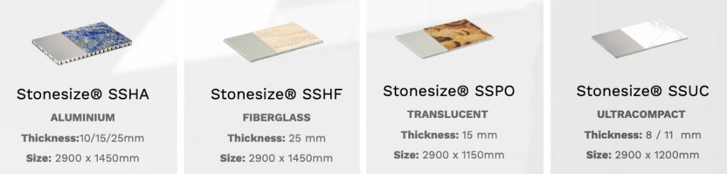 Stonesize honeycomb products - Productos Stonesize honeycomb