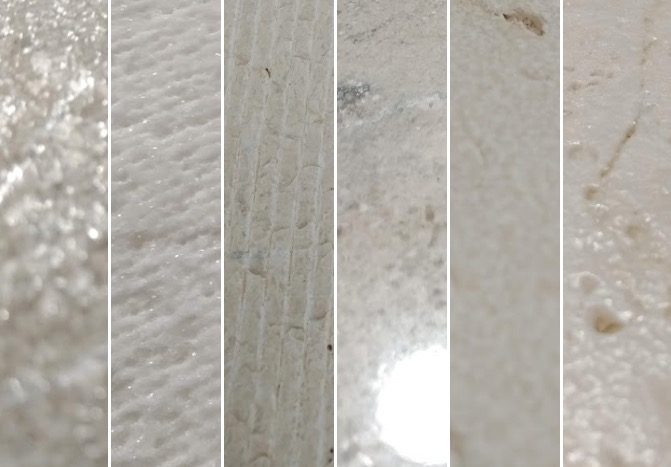 Texturas y acabados piedra natural aligerada - Lightweight natural stone finishes and textures