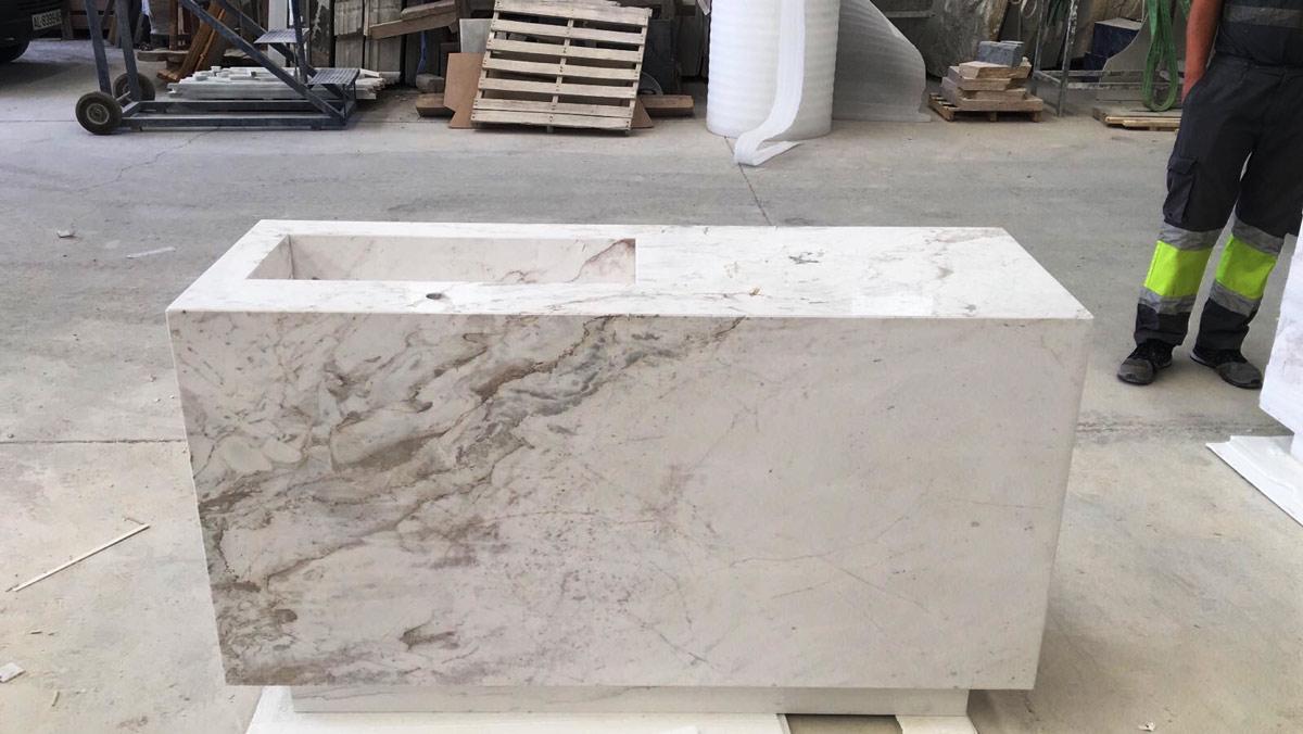 Marble vanities - Mueble de mármol con lavabo