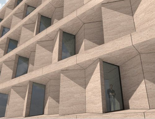 Stonesize industrialized facade panels