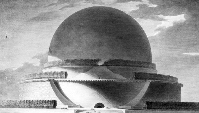 Cenotafio de Newton, 1784. Étienne-Louis Boullée