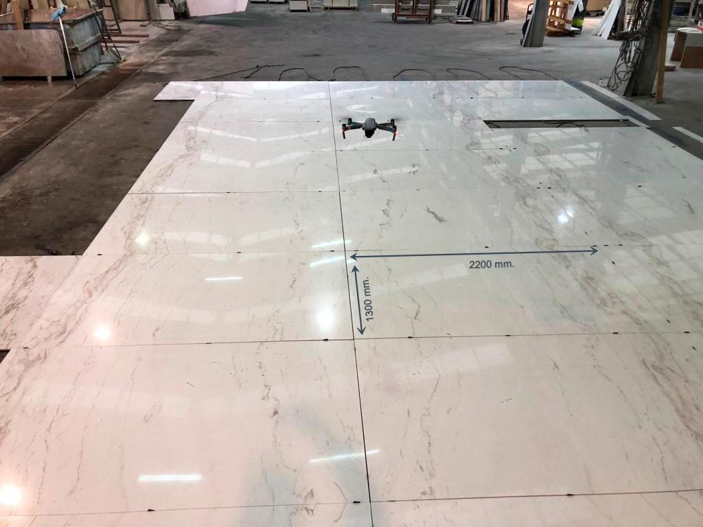 Extendido en seco en mármol de gran formato - Large format marble dry laying