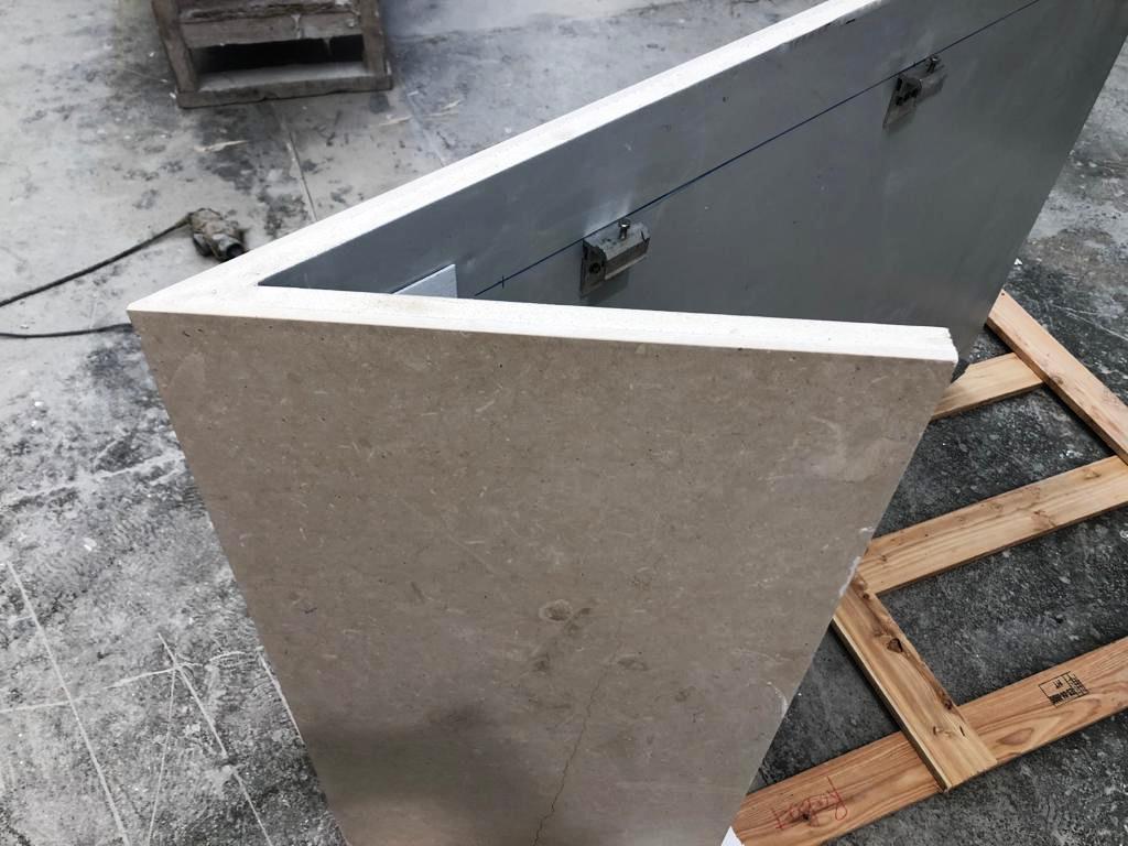 Esquina 30 grados para formación de piezas especiales de fachada.