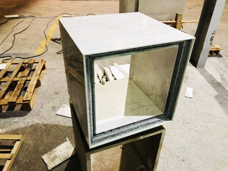 Piezas para mueble estructural muy ligero. Doble estructura Honeycomb. Alta resistencia.