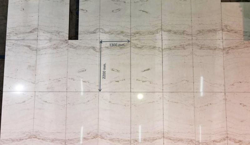 Extendido en seco mármol ligero - lightweight marble dry laying