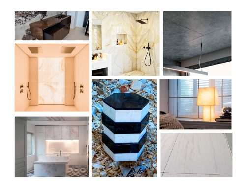 Marble elements for interior design and interior architecture