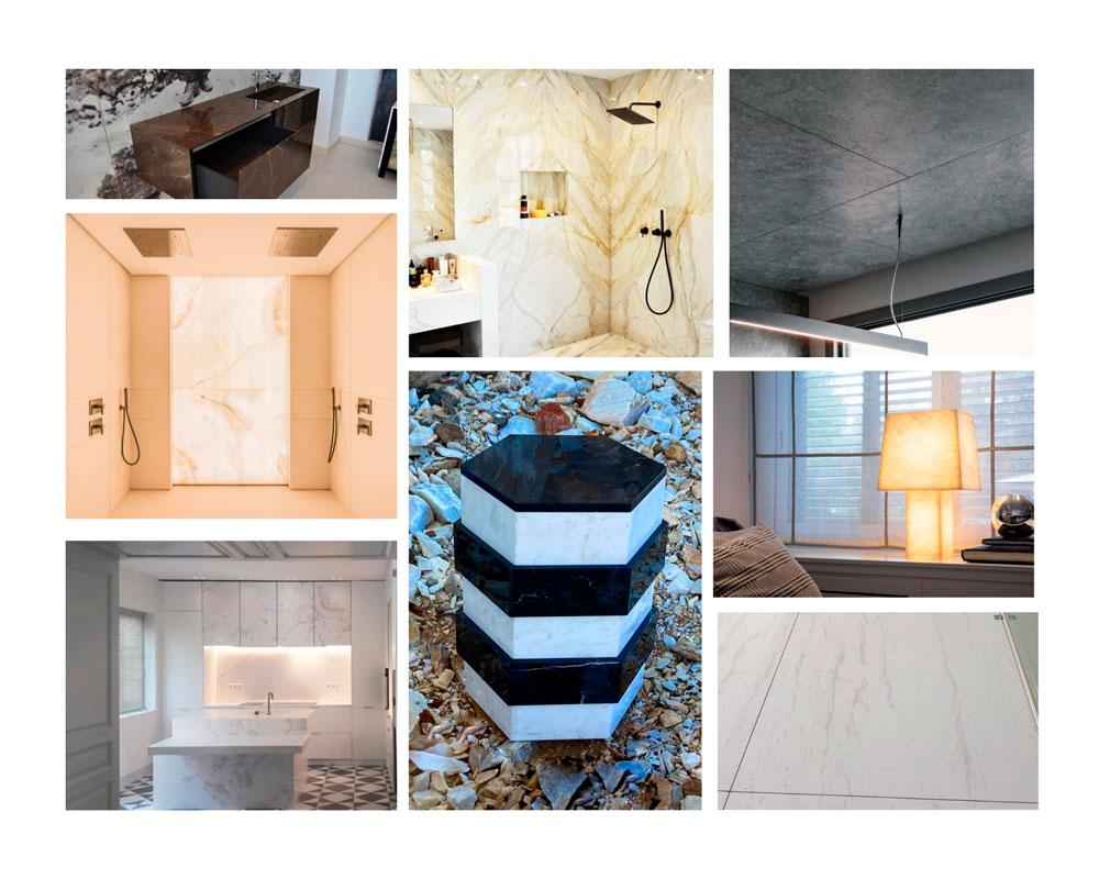 Elementos de mármol para interiorismo - Marble elements for interior design